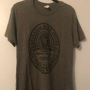 Gray Guinness Branded T-Shirt Size Medium